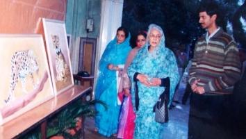 Thakur Ajay Singh Peelwa with Late Rajmata Gayatri Devi Jaipur
