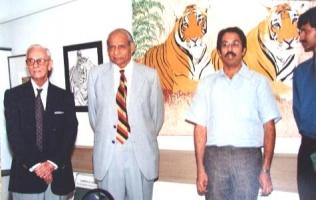 Thakur Ajay Singh Peelwa with late Maharaja Raj Singh ji Dungarpur and Shri Uddhav Thackeray,President Shiv Sena
