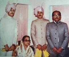Kumar Santosh Kumar Singh Roy , Kumar Suvrakanti Singh Roy and Kumar Suman Singh Roy with Rajmata Rupamanjari Devi of Jhargram Raj, WB.