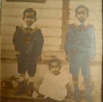 Kumar Subodh Chandra Singh Roy and Kumar Nripendra Chandra Singh Roy with sister Nihar kumari Devi