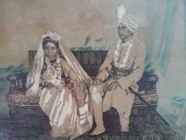 Kumar Nripendra Chandra Singh Roy and wife Thakurani Radha Lata Devi of Chakdighi