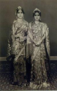 Maharajkumari Snehalata Kumari Devi and Maharajkumari Satyabhama Kumari Devi