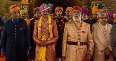 Maharaja Gaj Singh ji of Jodhpur, Yuvraj Mandhata Sinh ji of Rajkot, Shriji Arvind Singh ji of Mewar and Maharaja Brajraj Singh ji of Kishangarh