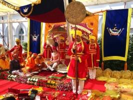 Bhanwar Sahib Tikka Jaidep Singh ji Jadeja of Rajkot at the Tilak Dastur Ceremony