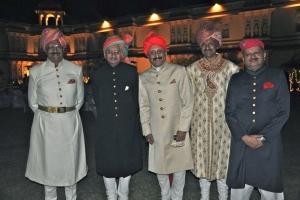 (From left) Maharaja Raghubir Sinhji, Maj. Gen. R.K. Randhir Sinhji, Maharaj Indra Vikram Singhji, Yuvraj Manvendra Singhji and Maj. R.K. Yashoraj Sinhji.