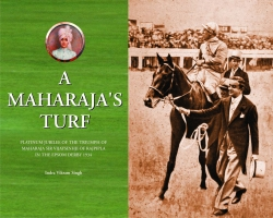 Book on triumph of Maharaja Shri Sir Vijaysinhji of Rajpipla in the Epsom Derby of England in 1934.
