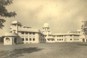 Vadia Palace (Indrajit-Padmini Mahal), Rajpipla, rear view.