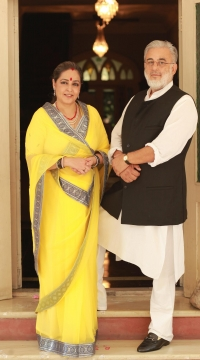 Raja Chandra Vijay Singh with Rani Sushma Kumari