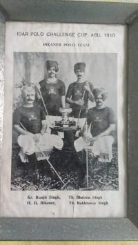 Thakur Bakhtawar Singh Padihar of Samandsar with Maharaja Ganga Singh Ji of Bikaner