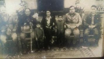 Yuvraj Laliteshwar P. Singh with Nawab Md. Naziruddin Khan f Bakhtiarpur, Honble Edward Lee DM of Munger, Yuvraj Kameshwar Singh and Rajkumar Visheshwar Singh and Honbl'e Military Secratary to Governor