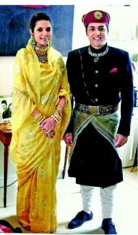 Maharaj Sahib Shri RAGHAV RAJ SINGH and Rani Sahiba Shelja Kumari