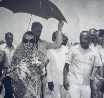 Thakur Nathu Singh Sindarli (Pradhan 2 Times) with Indira Gandhi