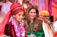 HH Maharaja Laksh Raj Prakash Bahadur with Dimple Kapadia at his Tilak Ceremony