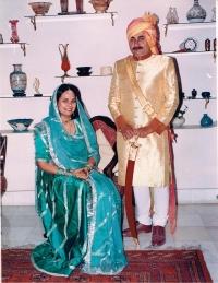 Maharaja Udai Prakash Ji and Maharani Rasika Prakash