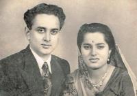 Maharajkumari Nalini Devi and Rajkumar Gajendra Singh of Alipura
