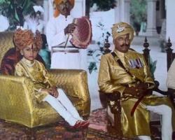 H.H Maharaja Dhiraj Maharao Shri Sir TajRam Singhji Bhadur with Col. Samrat Singh Ji of Galthani