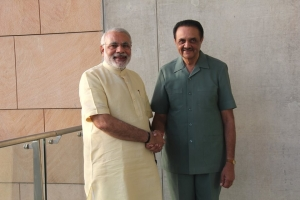 HH of Sirohi with PM of India, Shri Narendra Modi