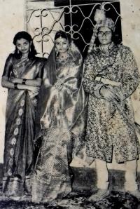 Pato Jema Manoj Manjari Devi with San Jema Manjula Manjari Devi & late Raja Hrudya Chandra Dev
