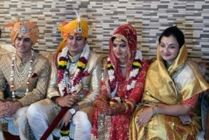 Tilak Ceremony of Yuvraj Janmejay Ch Mardaraj Harochandan of Nilgiri-Sanjema Saheba Manjula Manjari Devi(Manjula Pooja Shroff) & Kumar Advait, Kothi Palace, MP, date 22/02/2017