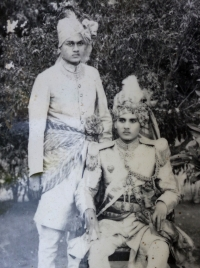 Raja Kirti Chandra Deo with Sandeo Jaychandra Deo
