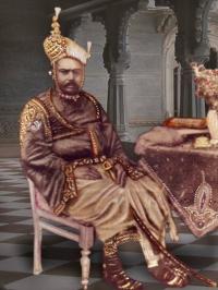 Prataprao Shankerrao Deshmukh Pawar, photograph taken at Shanker Bhavan Palace, Surgana, dated 1914