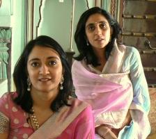 Rajkumari Gitanjali Shah of Tehri Garhwal & Kunwarani Priyanjali Katoch of Lambagraon, Kangra