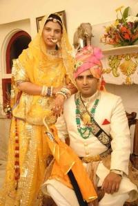 Rao Kirti Pratap with wife Rajeshwari singh rajvi