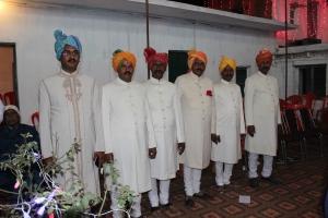 Shri Thakur Lal Sahab Maharaj Kumar Mahendra Pratap Singh Ji with his five brothers