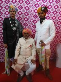 Shri Thakur Lal Sahab Maharaj Kumar Mahendra Pratap Singh Ji with his sons