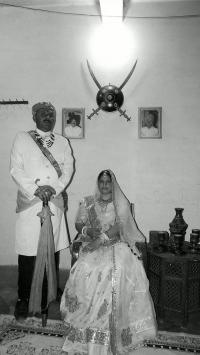 Thakur Sahab Thikana Tikuri Mahendra Singh Ji with wife Shanti Kumari Ji