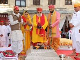 Grah Shanti as part of Lakshyaraj Singh Mewar's Wedding Ceremonies was held at Zenana Mahal, The Palace, Udaipur on 18th January 2014
