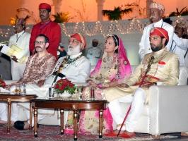Shriji Arvind Singh Mewar, Nivritti Kumari Mewar and Lakshyaraj Singh Mewar