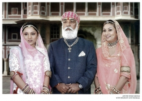 Shriji Arvind Singh Mewar with Bhargavi Kumari and Padmaja Kumari Merwar