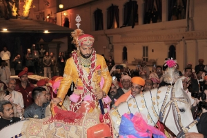 Varnikasi as part of Lakshyaraj Singh Mewar's Wedding Ceremonies continues from Chandra Chowk to Badi Pol, The Palace, Udaipur on 20th January 2014