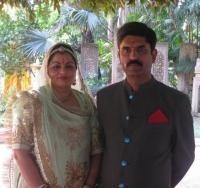 Maharaj Vijayvardhan Singh and Rani Asha kumari