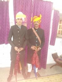 Maharaj vijayvardhan singh with son Bawar Vishva vardhan singh