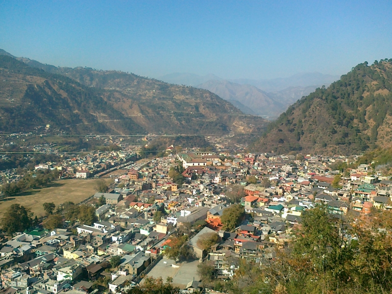 Chamunda Temple View Of Chamba